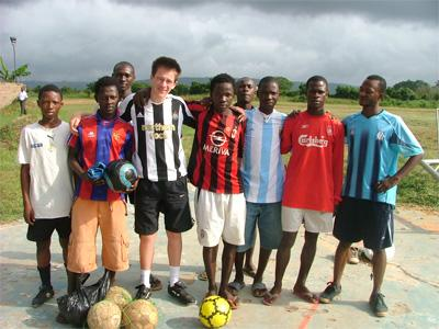 Football project in Ghana