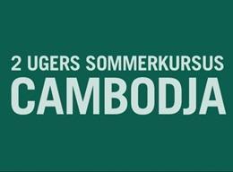 CAMBODJA: Ungdomsprojekt - Humanitært arbejde