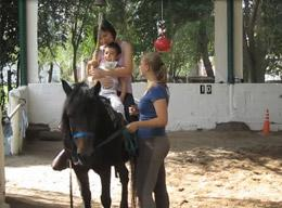 A volunteer on an Equine Therapy in Argentina