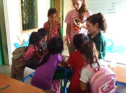 Volunteers on a High School Special Care Project in Cambodia