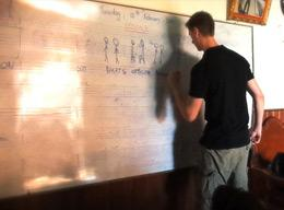 Dutch volunteer on a Teaching project