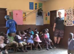 A Volunteer on a Care Project in Ghana
