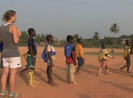 A Gap Year Volunteer on a Sports Project in Ghana