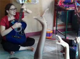 Volunteering on a Music Therapy Care Project in India