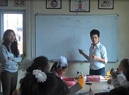 A Volunteer on the Teaching Project in Mongolia