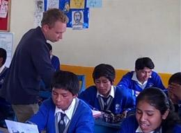 A Volunteer on a Teaching Project in Peru