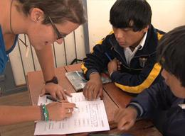 A Volunteer on the Teaching Project in Peru