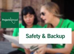 Safety and Backup with Projects Abroad