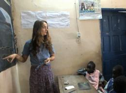 A Volunteer on the Teaching Project in Senegal