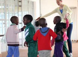 A Volunteer Teaching Dance on a Care Project in South Africa