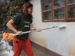 Volunteers on the Building Project in Tanzania