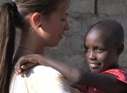 A Care Volunteer on a Project in Tanzania