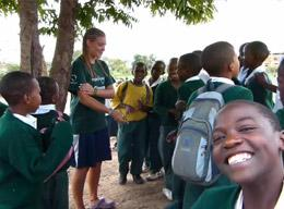 A Volunteer Teaching Sports in Tanzania