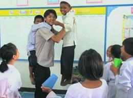 タイの小学校で教育活動
