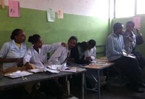 Äthiopien-Unterrichten-Lehrer