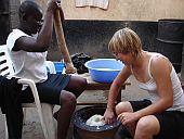 Zubereitung von Fufu