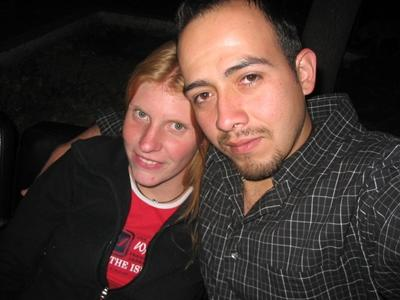 Das bin ich mit meinem Mann