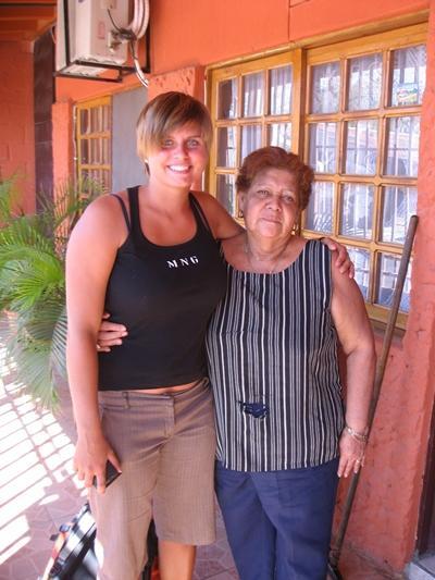Meine Gastmutter und ich
