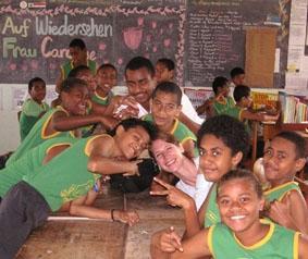 Fidschi-Unterrichten-Abschied