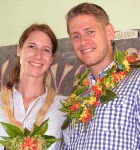 Fidschi-Unterrichten-Freiwillige