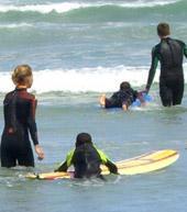 Südafrika Surfen Training