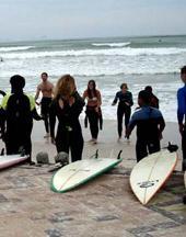Südafrika Surfen Warm-up