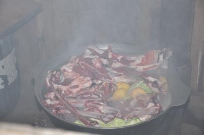 Traditionelles Gericht aus der Mongolei