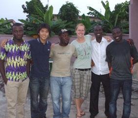 Ich mit den Projects Abroad-Team