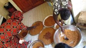 Senegal, Sozialarbeit, Essen