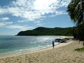 Fidschi-Unterrichten-Strand