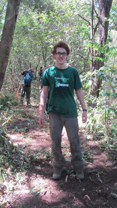 Ich beim Trail herstellen