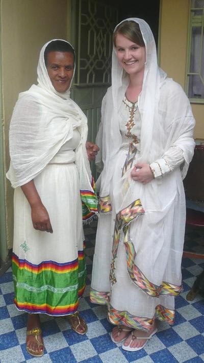 Sozialarbeit Äthiopien Kleid