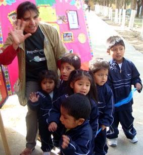 Bolivien-Sozialarbeit-Spielen