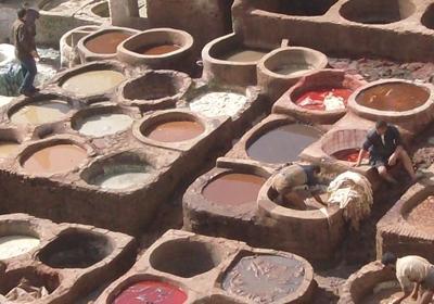 Marokko Unterrichten Faerben