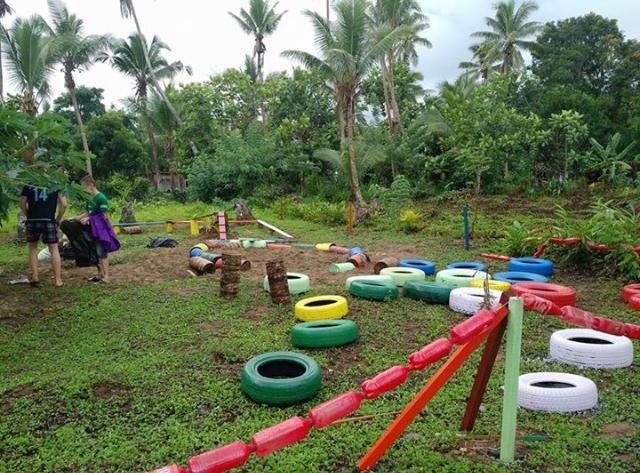 Freiwillige Hausbau Spielplatz