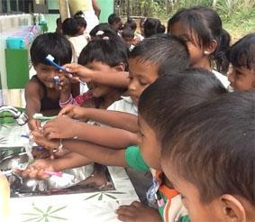 Sri Lanka-Sozialarbeit-Waschen