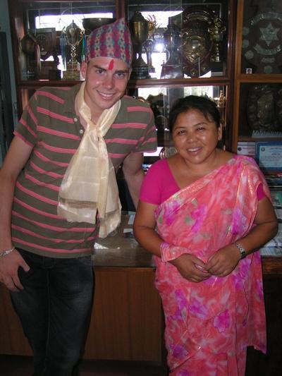 Ich mit meiner Gastmutter