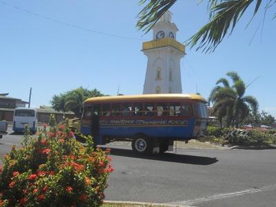 Stadtbild auf Samoa, Projects Abroad