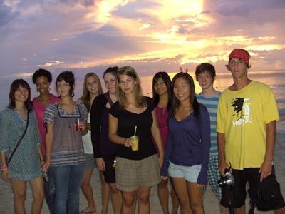 Mit anderen Freiwilligen in Negril