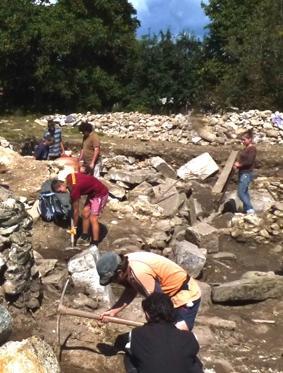 Rumänien-Archäologie-ausgrabung