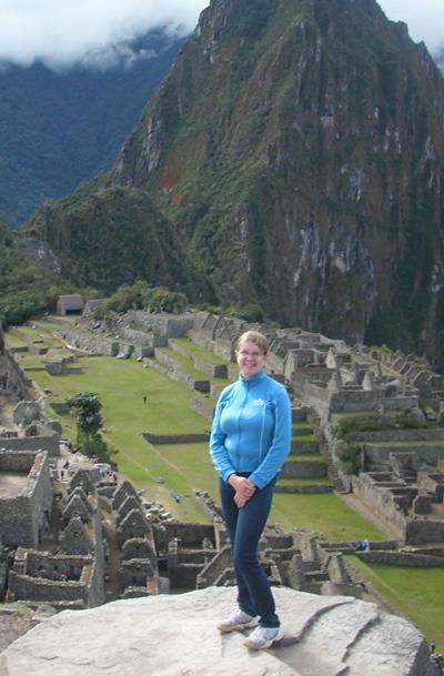 Beim Besuch in Machu Picchu