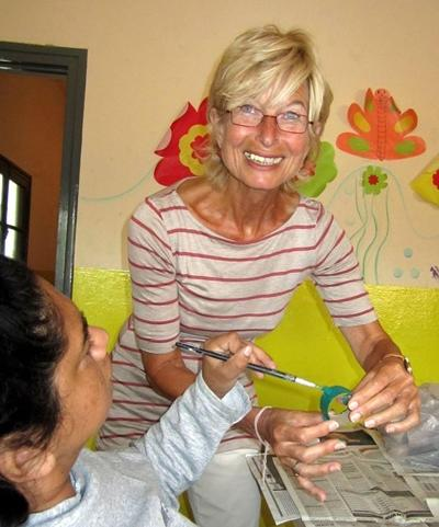 Argentinien-Sozialarbeit-Basteln