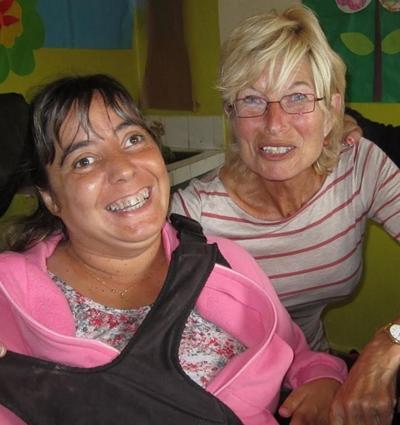 Argentinien-Sozialarbeit-Rollstuhl