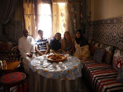 Mit Freunden in Meknes