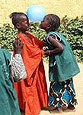 Senegal, Freiwillig, Kids, Luftballon