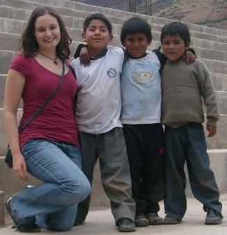 Naturschutz Peru Jungs