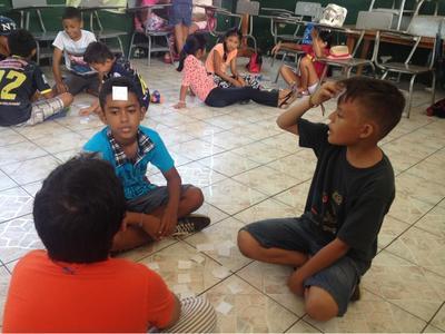 Talleg på undervisningsprojekt i Ecuador