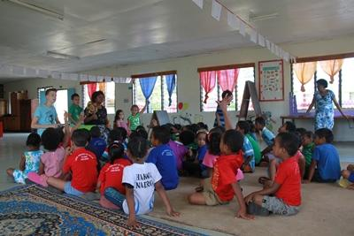 Undervisning og interaktion i børnehaven i Fiji