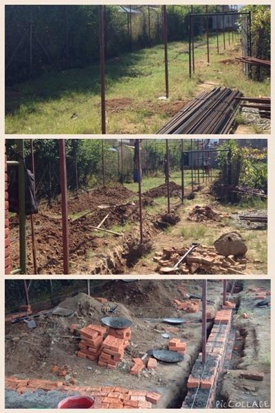 Fundamentet lægges til ny bygning i Nepal