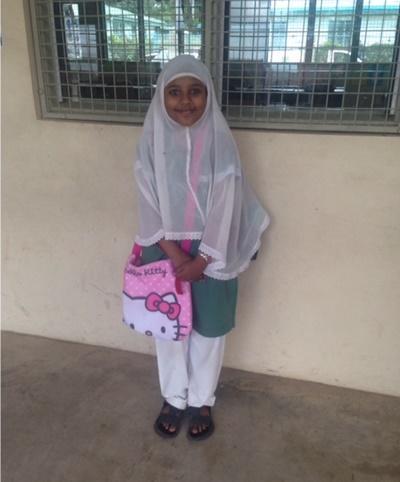 Elev på muslimsk skole i Fiji
